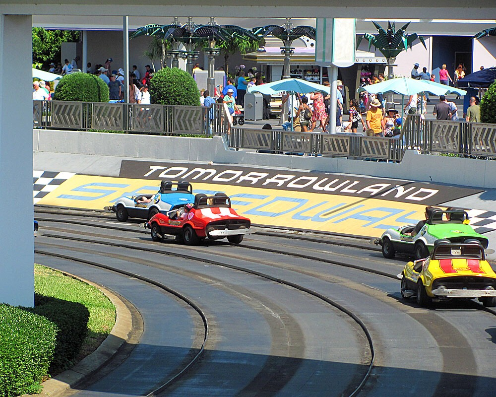 •Tomorrowland Speedway •Town Square Theater •Journey of the Little Mermaid •Seven Dwarfs Mine Train