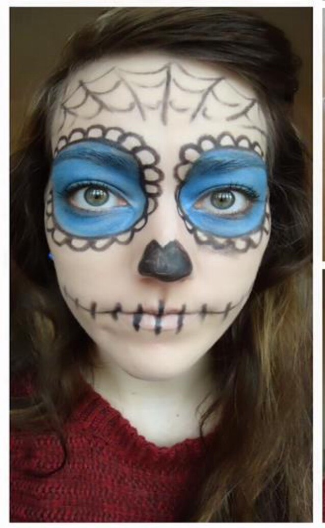 This is the final look! Hope you enjoyed this tutorial for a cute but creepy Halloween idea👻🎃