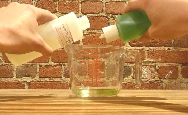 6. Grapeseed and Castor Oil Recipe: 3 tbsp. Grape Seed Oil 1 tbsp. Castor Oil  Mix these oils together in a cup and stir.  This is a great recipe for those with sensitive skin.