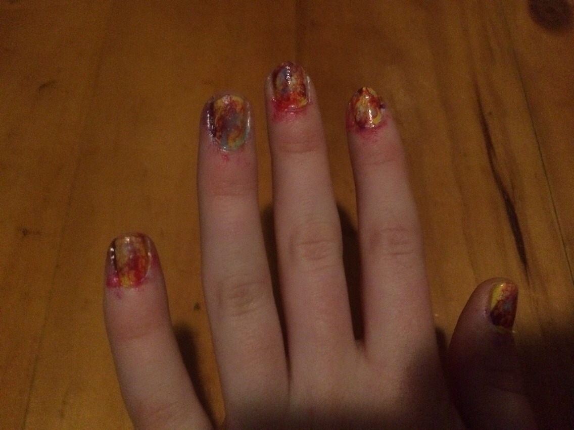 It's a bit dark so the colours look a bit yucky but it's better not in photos!