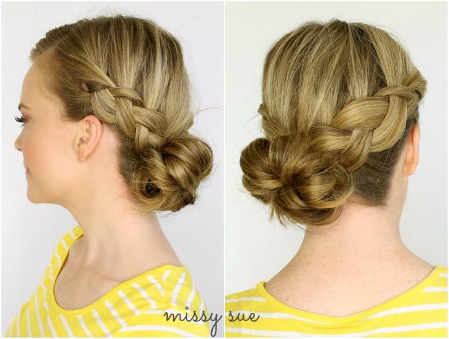 Look 3 : Two Dutch Braids to Low Side Bun
