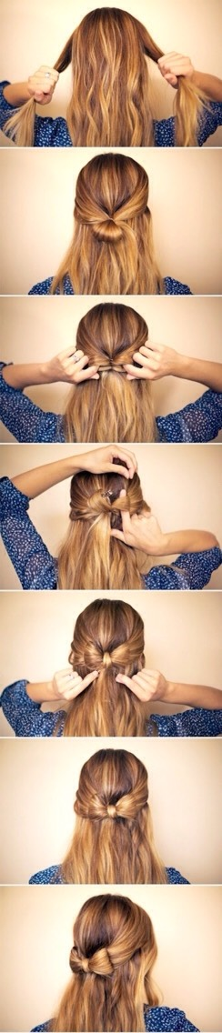 Bow-tied Half Up Do
