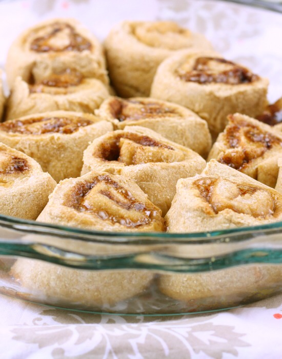 Cinnamon Rolls: (yes they can still be healthy!!)  Yields: 15 Rolls | Serving Size: 1 Roll | Calories: 188
