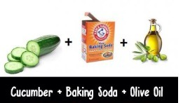 All you need is   Cucumber+baking powder+olive oil+lemon juice