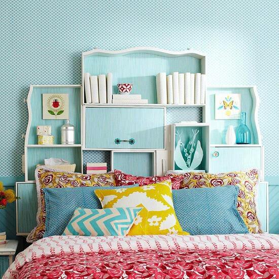 --> Old Dresser Drawer Headboard