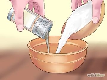 1) Measure out the citric acid and bicarbonate of soda/baking soda. Add to the bowl.