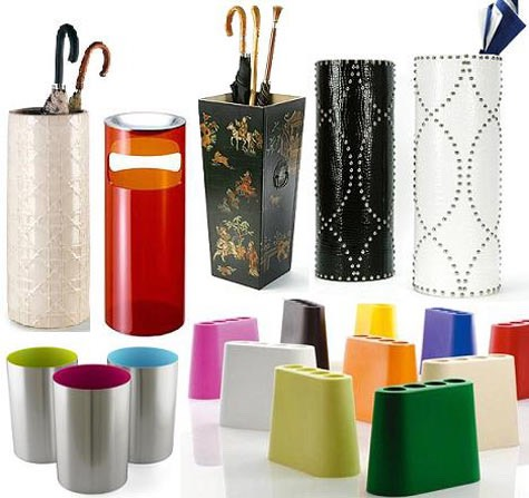 6. Use an umbrella stand to hold odd items like a yoga mats.