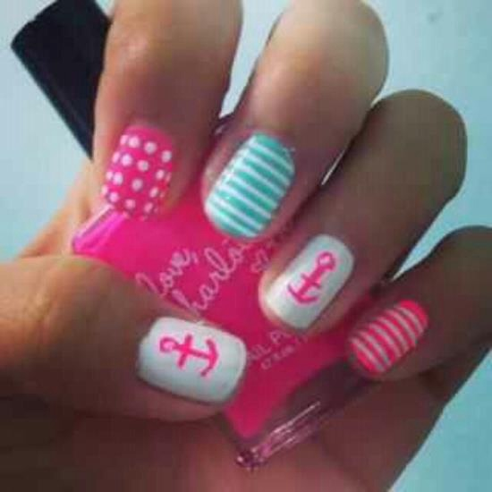 To dry nails faster, apply some hairspray to your fingers or dip your nails in a bowl of ice water