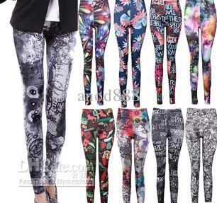Colorful leggings,