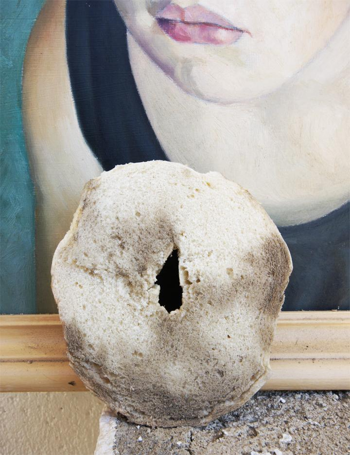 Paintings: This seems like a tricky one, but you don't have to let your paintings get dusty! Instead, rub half of a bagel over your painting to pick up all the dust and grossness.
