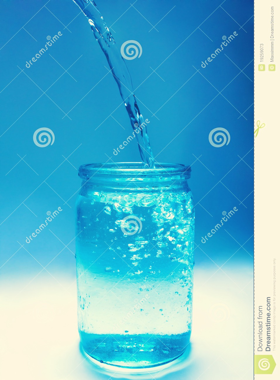 (I didn't take a picture if the next step, sorry.) But now pour water in your jar ( not fully) leave less than an inch of air and add a few drops of glycerin if you have any, ( it makes the water thicker) add your fine glitter, finally, as much as you prefer, just don't over do it:)