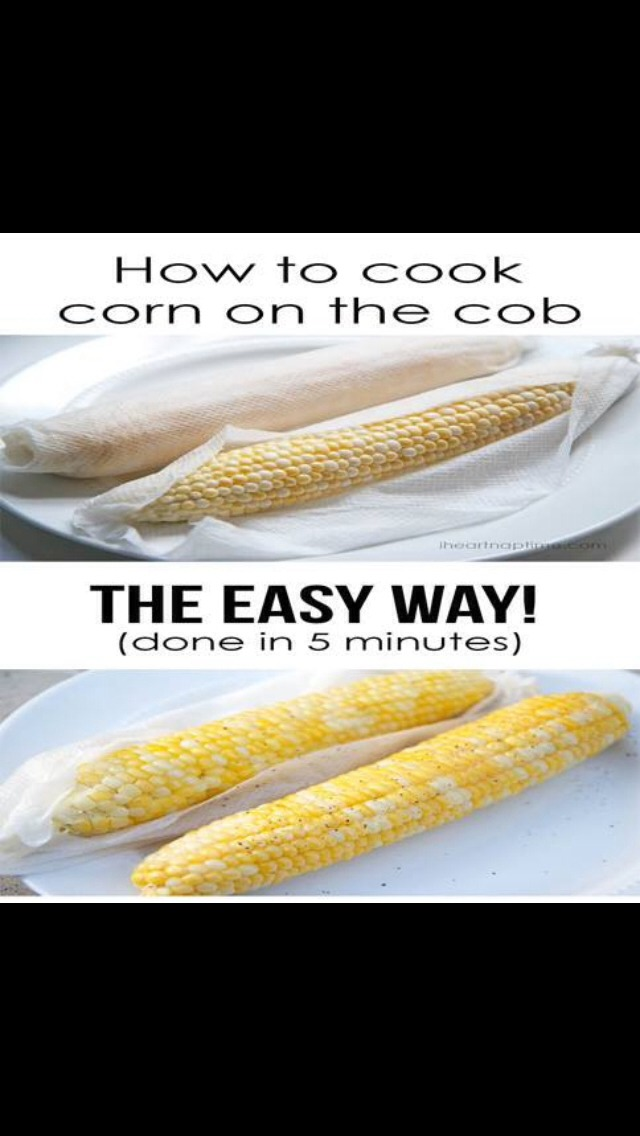 Just easily take a napkin and place it over your corn and place In microwave for 5 min and your done