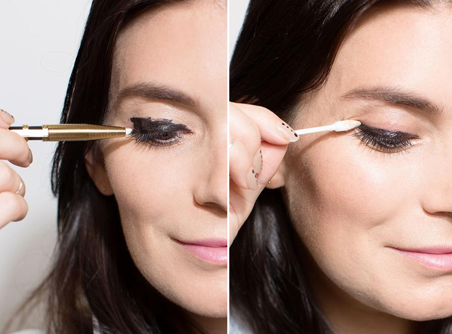 8. If getting a perfect line is too challenging, draw a rough line first, and then sharpen it with a cotton swab and petroleum jelly. Sometimes erasing mistakes is easier than trying to nail it the first time.
