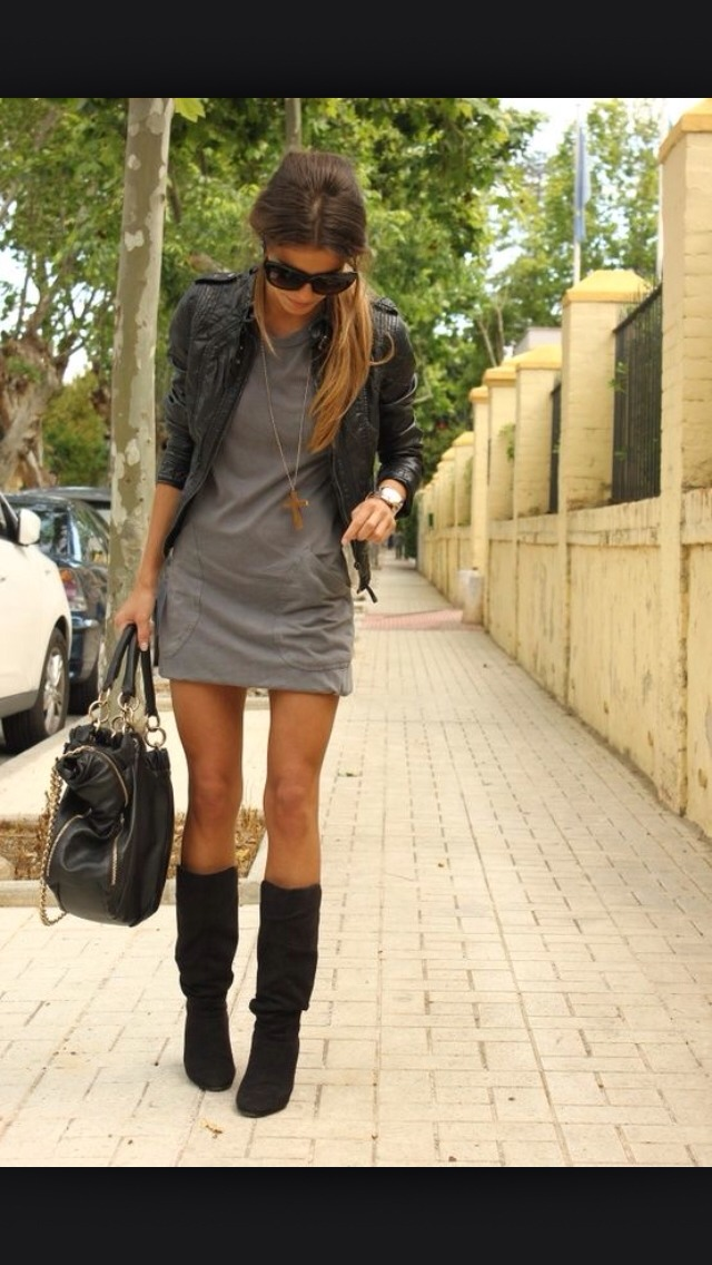 Dress it up with a dress & boots