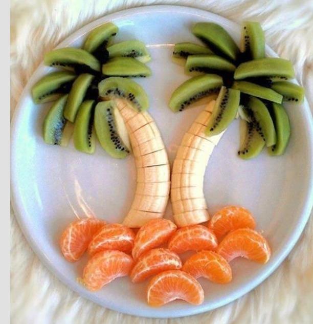 Kiwi banana and mandarin oranges