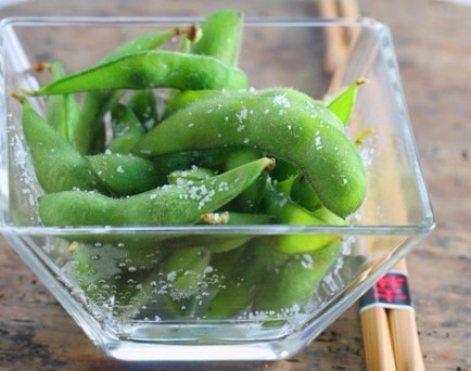 Edamame  Edamame is an addictive snack that is so much healthier than eating a whole bag of chips!