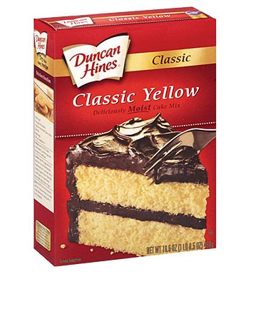 1 box of yellow cake mix