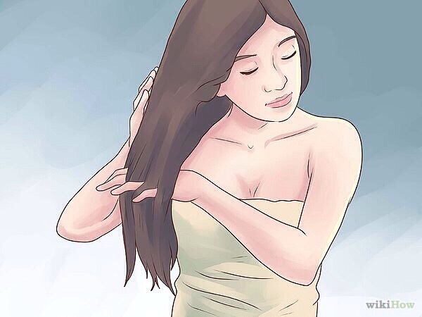 2: Run your fingers through your hair, go slow when you get close to the end.