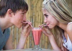 Share a smoothie with each other