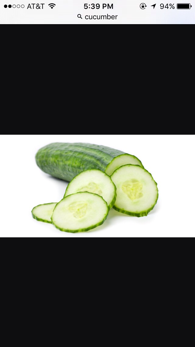 Thinly slice cucumber and add it to your salad.
