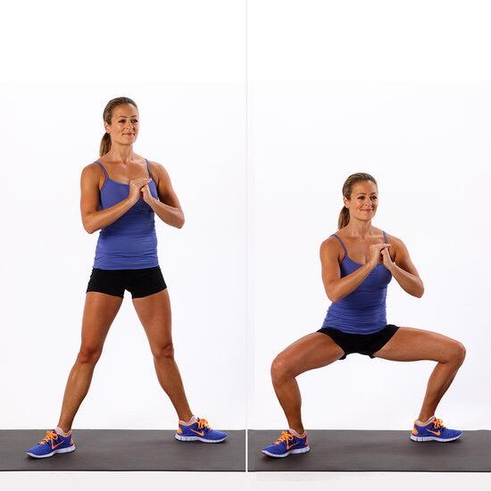 Plié squat  25
