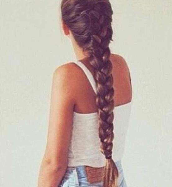 Think French braid.🌼