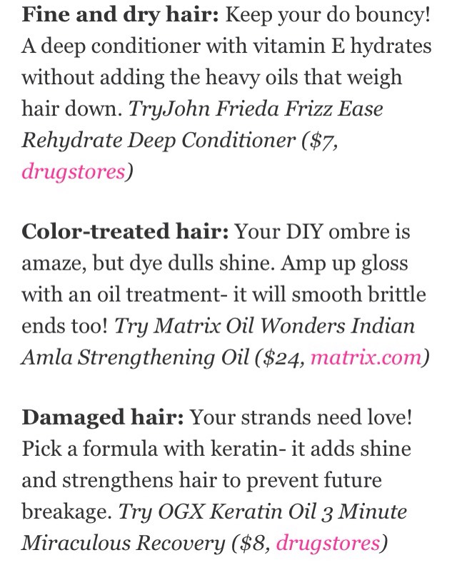 Pick a treatment depending on your hair ☺️