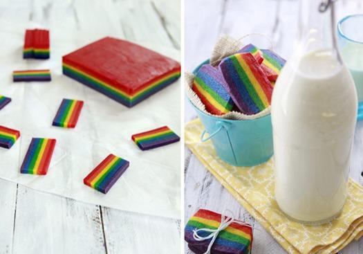 21. Rainbow Slice and Bake Cookies