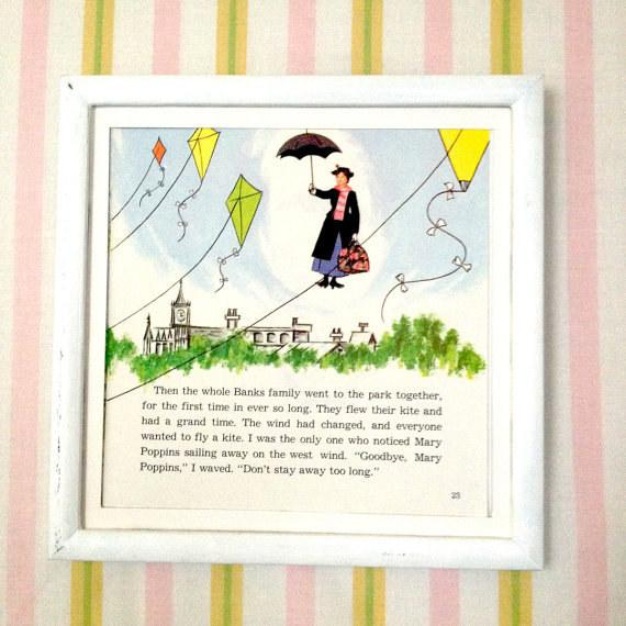 5. It's so easy to frame vintage storybook pages.