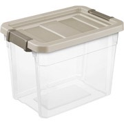 Get a nice plastic tub. I recommend clear to see what's inside.