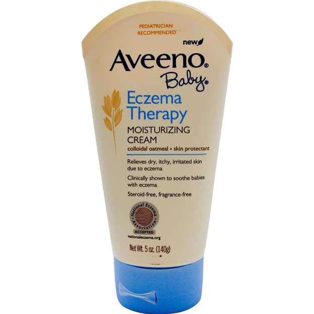 7. Aveeno Baby Eczema Therapy Moisturizing Cream is ideal for treating an adult's dry skin, especially in the winter. A major selling point for this cream is that it's less greasy than ones made specifically for adults.