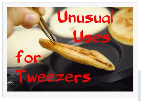 Drum roll please...announcing new and unusual ways to use your tweezers!!