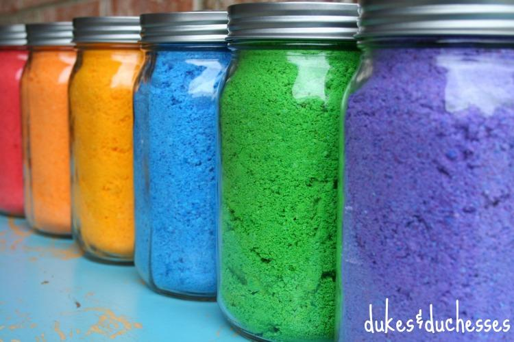 This simple recipe makes a bold-colored powder … and you don't have to worry if they get a bit in their mouth!