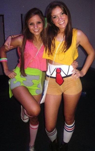 Super adorable Spongbob and Patrick Halloween costume!😍