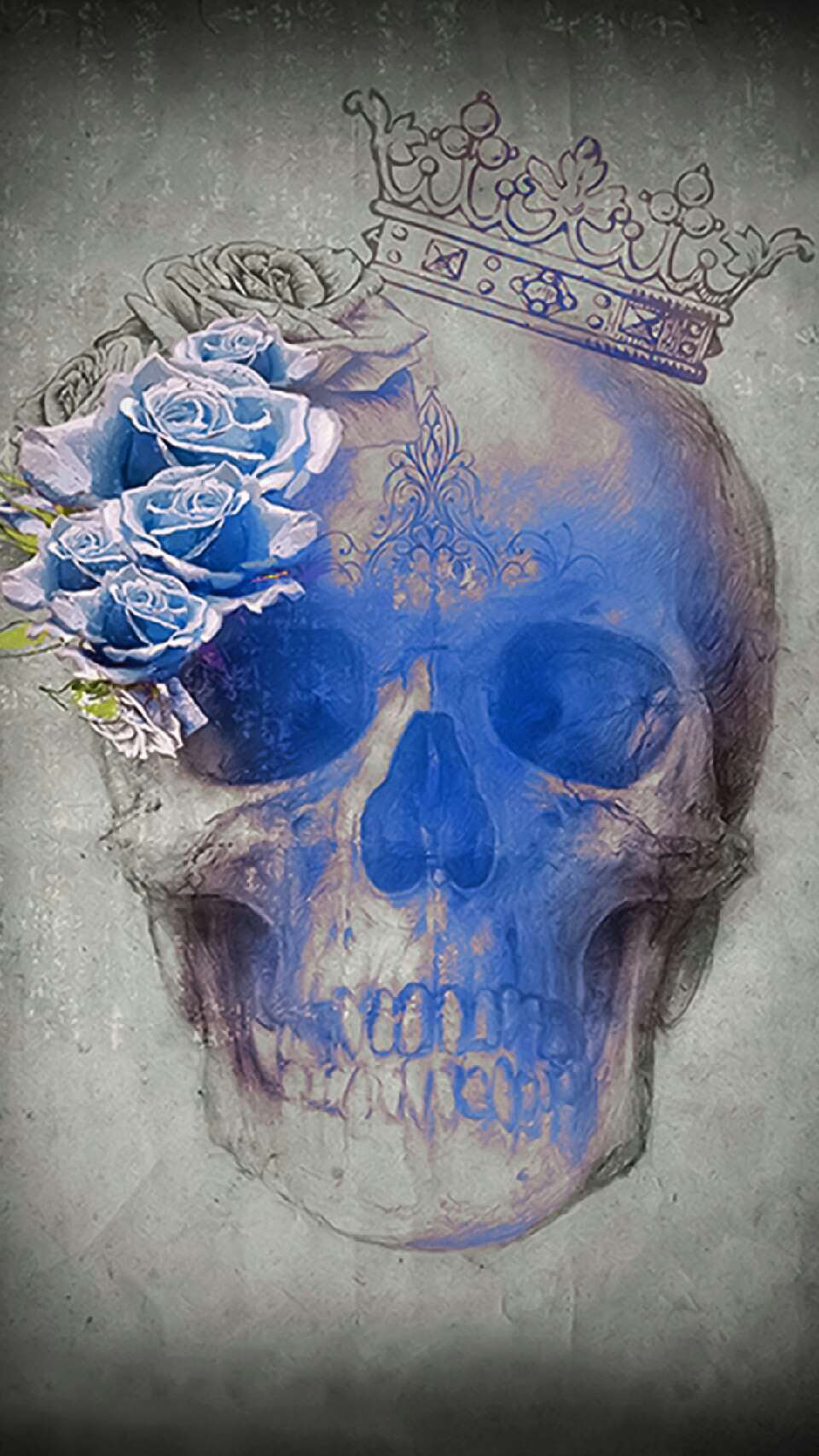 A pretty and vibrant skull is sure to satisfy the skeleton within you