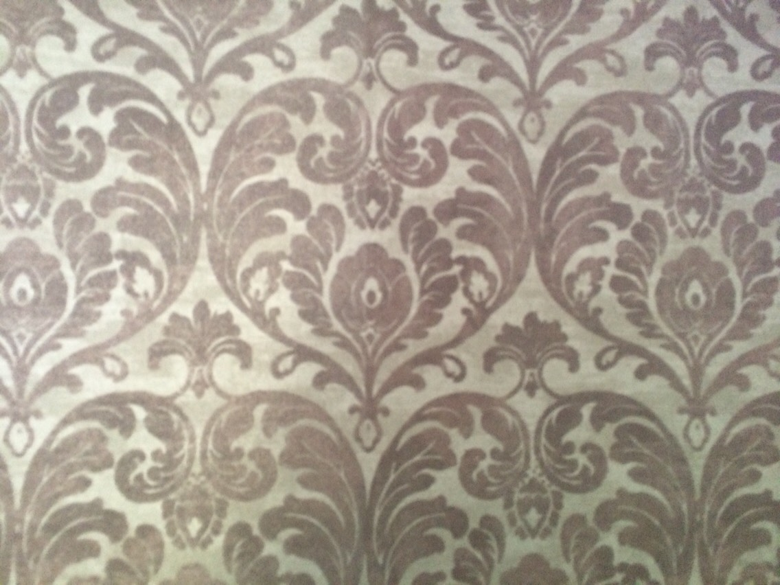 Silver patterned wallpaper