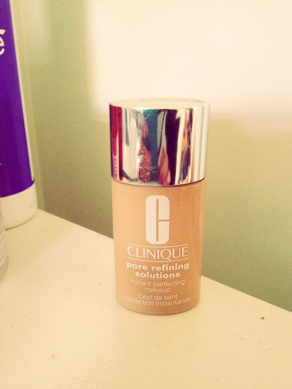 A lot of girls wear foundation, who can blame them!, but foundation is very bad for giving you spots, its stopping your skin breathing and the majority of foundations contain tonnes oils. So i use this Clinique foundation it costs £24 but lasts for ages, it is oil free, it is also very light!!