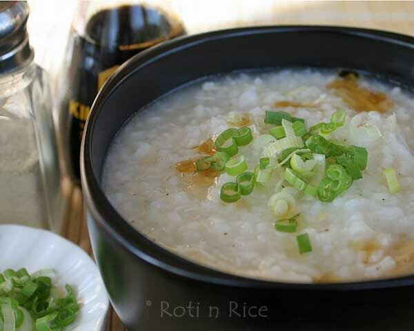 Rice congee, a breakfast dish Chinese people often eat.
