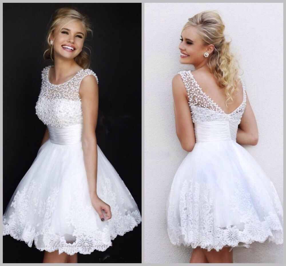 I've really been liking white grad dresses. You could pair them with coloured shoes and/or a bright necklace.