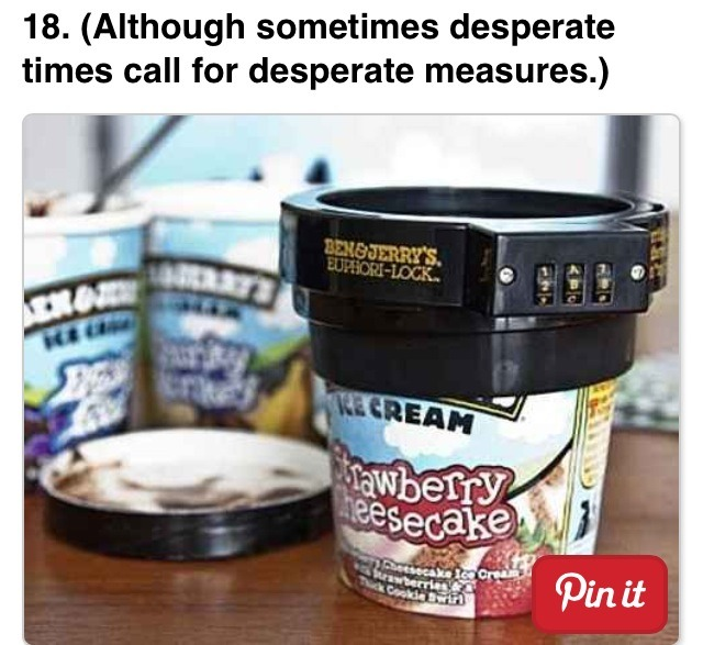 Get an ice cream lock.. Everyone steals ice cream even Santa.. Avoid that!
