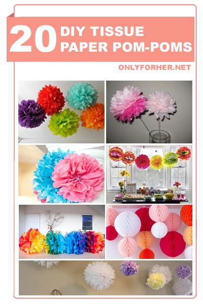 How To Make Tissue Paper Pom Poms, Tissue Paper Balls or Tissue Paper Puffs.