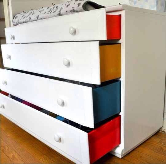 11. Painting the sides of a dresser adds a delightful detail to a child's room.