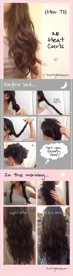 So you basically twist your hair really tightly, clip it to your head, go to sleep, and when you wake up in the morning, untwist it.