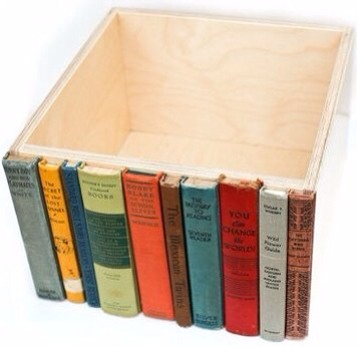 Use old books to make a hidden drawer