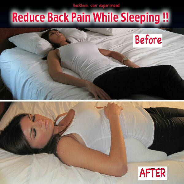 for back pain place a support pillow under your back longways so it is up your back while you sleep!