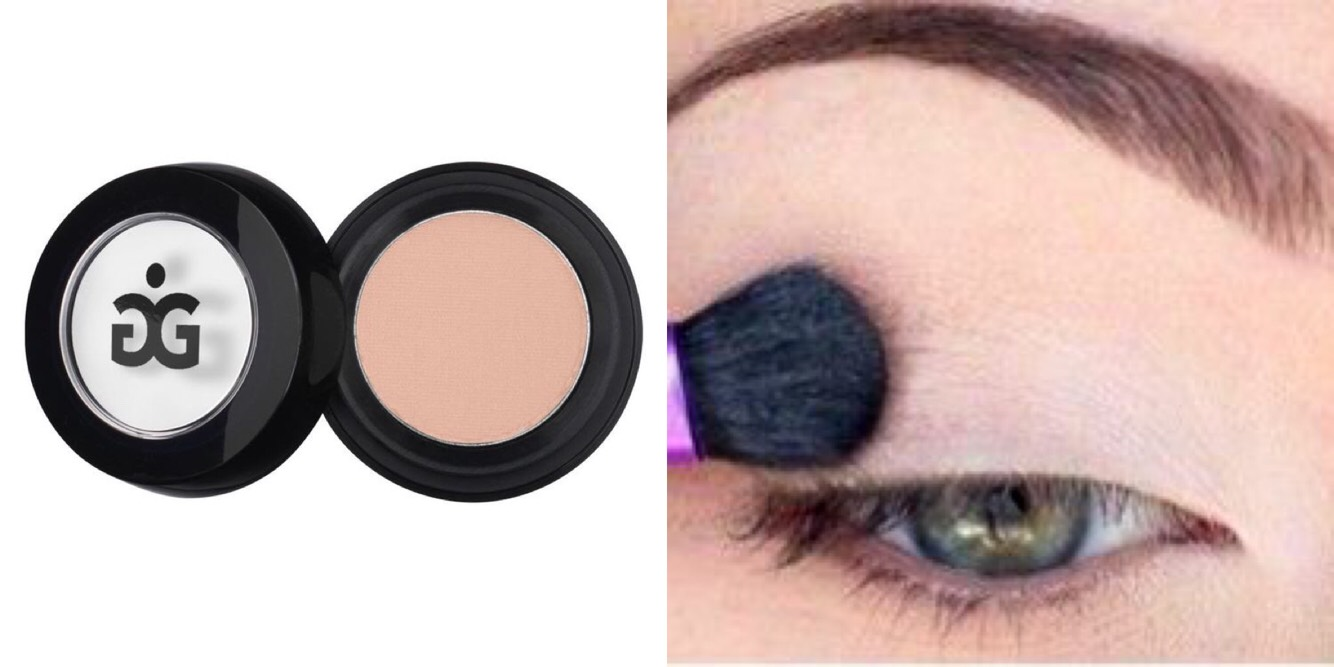 Step 2: Next, add your favorite plain nude eyeshadow over your lids. (It doesn't have to be an expensive brand, it can be any drugstore brand.)
