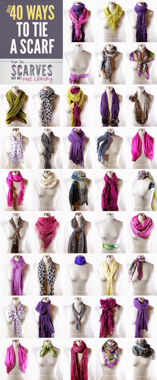 Ways To Wear And Tie Scarfs