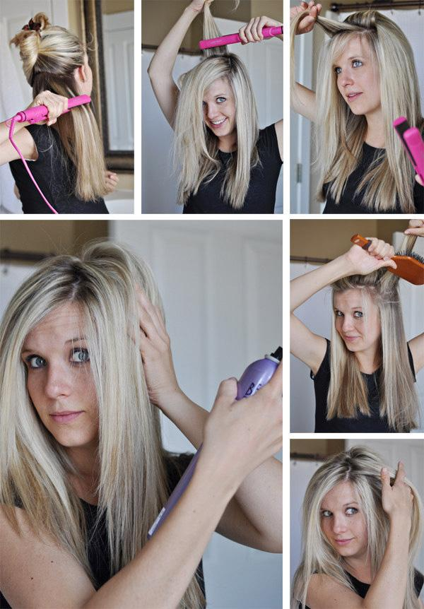 10. Sometimes hair straighteners can make our hair TOO flat. Try pulling hair upwards to give yourself more volume.