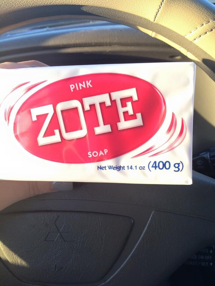 Zote soap, pink one