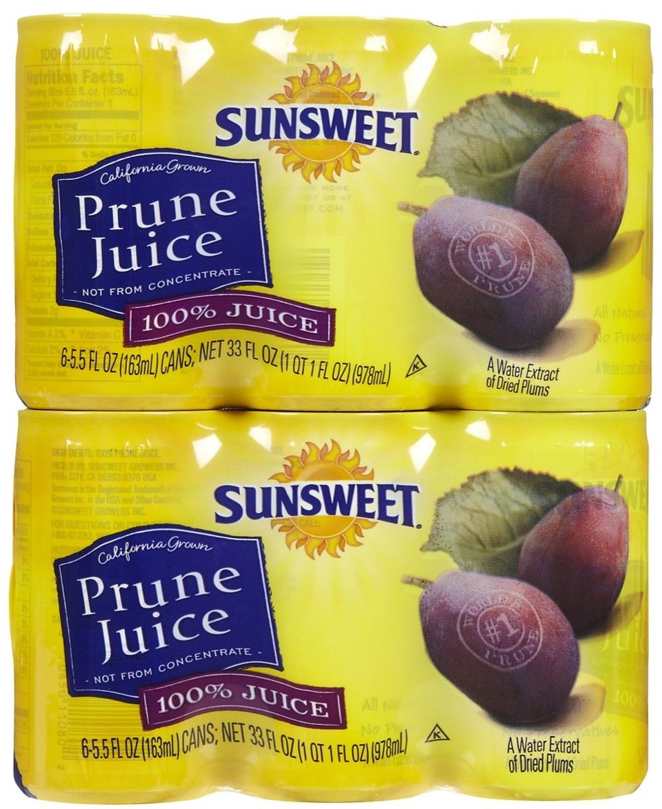Constipated Baby Drink Prune Juice